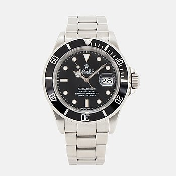 ROLEX, Oyster Perpetual Date, Submariner, Chronometer, wristwatch, 40 mm.