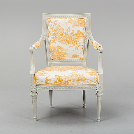 A gustavian armchair by ephraim ståhl, stockholm 1794 1820