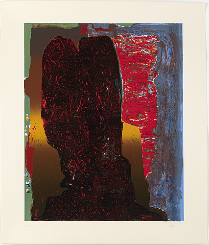 Rolf hanson, screenprint, 1991, signed in pencil and numbered 3/3 pp.