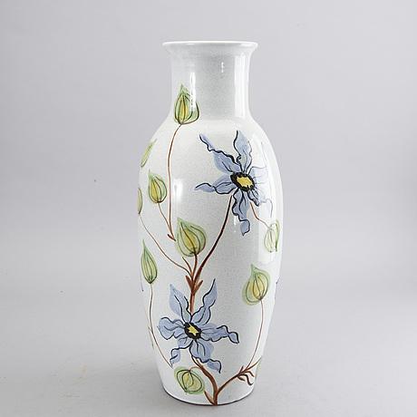 A swedish ceramic floor vase, alingsås keramik, 1940's 50's