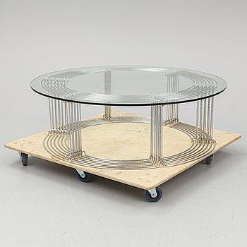 A 'Pantonova' coffee table by Verner Panton.