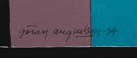 GÖran augustson, guassi, signeerattu ja päivätty -94.