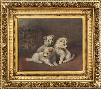 Unknown artist, signed A.M. 95, oil on canvas.