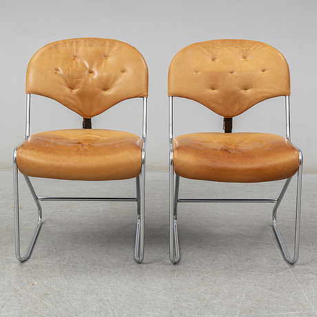 """A pair of chairs by sam larsson for dux, model """"sam"""", model launched in 1974"""