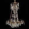 A gustavian style chandelier, second half of the 20th century