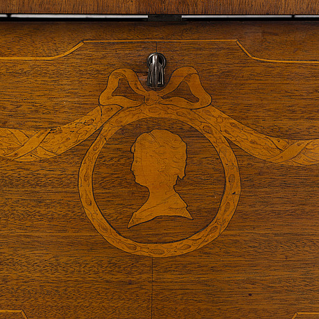 A mid 20th century gustavian style cupboard