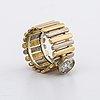 Ring 18k gold and whitegold w 1 brilliant cut diamond approx 1 ct approx j k vs, lomelius malmö 1986
