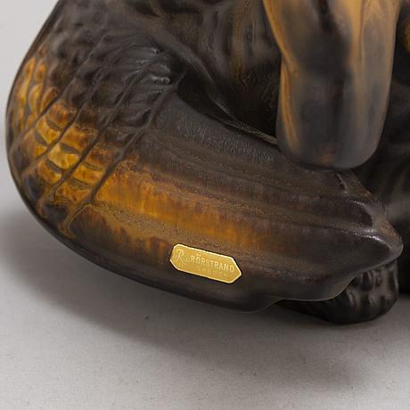 Two stoneware figurines by gunnar nylund för rörstrand