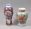 Vaser, 2 st, porslin, kina, 1700/1800-tal.