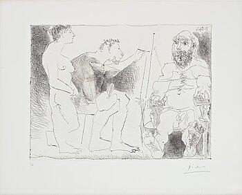 """664. Pablo Picasso, """"Peintre au Travail""""."""