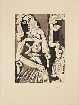 """672. Pablo Picasso, """"Le modèle""""."""