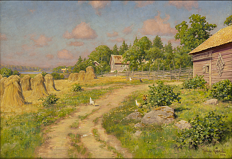 Johan krouthÉn, oil on canvas, signed and dated 1912.