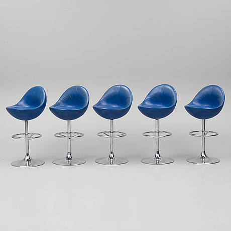 Five bar chairs from johanson design