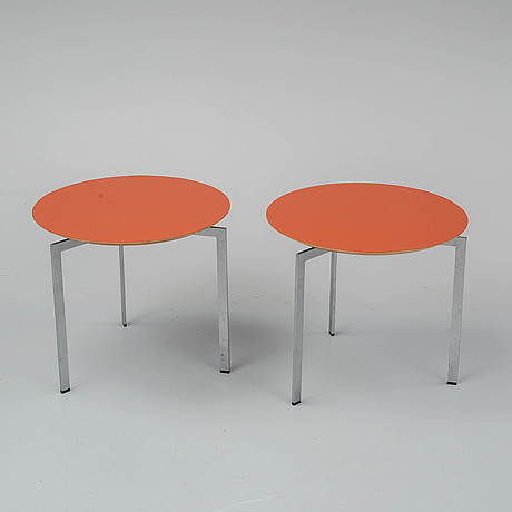 Ulla christiansson, a pair of trippo coffee tables.