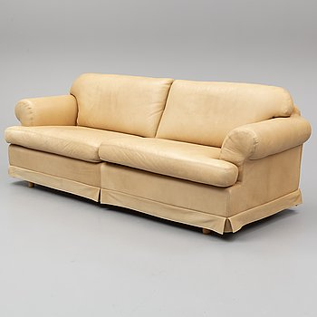 A leather covered sofa from Dux, second half of the 20th Century.
