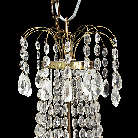 A gustavian style chandelier, second half of the 20th century.