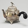 Cg hallberg, a silver teapot from stockholm, 1903