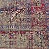A semi-antique silk kashan, ca 316 x 205.
