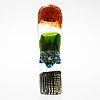 Oiva toikka, a 'latina i' glass sculpture, signed oiva toikka iittala 2010, numbered 3/30.