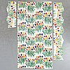 A 4 piece set of curtains 'tulpaner' by josef frank for firma svenskt tenn