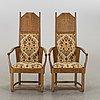 A pair of lars israel wahlman armchairs