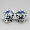 SÅssnipor, ett par, kompaniporslin. qingdynastin, qianlong (1736-95).