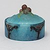 Almaric walter & henri bergÉ, a pate de verre nancy, glass box with lid, early 1900's.