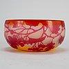 Emile gallÉ, an art nouveau cameo glass bowl, nancy, france
