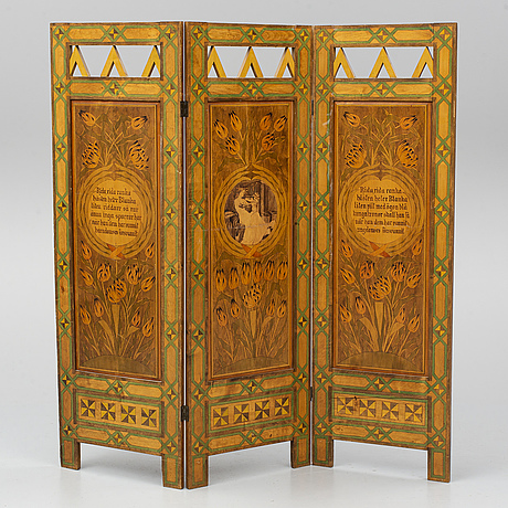 AvdelningsskÄrm, art nouveau, 1900-talets början.