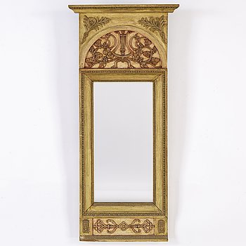 An early 19th century Empire mirror.