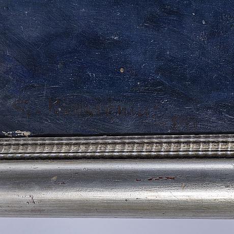 Gottfrid kallstenius, oil on relined canvas, signed g. kallstenius and dated -09.
