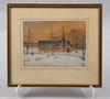 OkÄnda konstnÄrer, 3 st, akvarell, teckning, sign. omkring 1900.