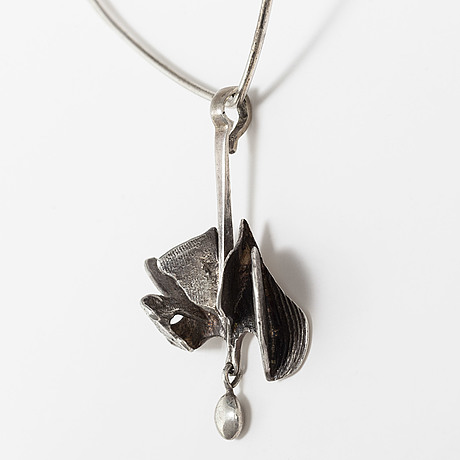 A necklace by david andersen with an ibe dahlquist pendant, silver, norway and sweden