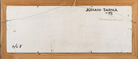 Juhani tarna, öljy kankaalle, signeerattu ja päivätty -75.