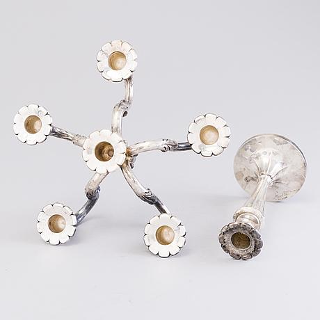 A silver candelabrum, auran kultaseppä oy, turku 1977