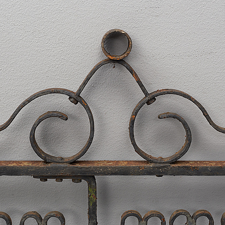 A pair of cast iron gates from the early 20th century.