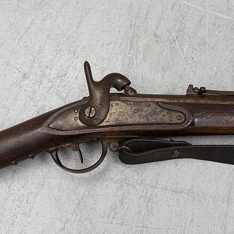 SlaglÅsgevÄr med bajonett, franskt konverterat m/1822 eller m/1824.