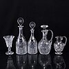 A part 'elvira madigan' style glass service (74 pieces).