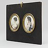 Jacob axel gillberg, miniatures, 2, signerad and dated 1800
