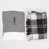 Yves saint laurent, two scarves.