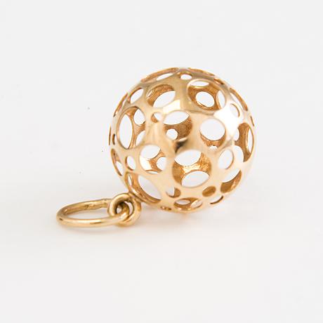 Liisa vitali, 14k gold pendant and earrings, n. westerback, helsinki 1971