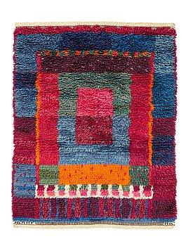 """217. Marianne Richter, A CARPET, """"Rutig brokig rya"""", knotted pile, ca 112 x 88 cm, signed AB MMF MR."""