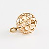 Liisa vitali, 14k gold earrings and a pendant, n. westerback, helsinki 1970