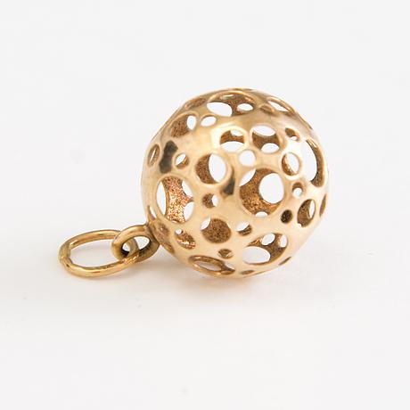 Liisa vitali, örhängen, ring samt hänge, 14k guld, n. westerback, helsingfors 1978.