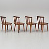 "Axel einar hjorth, a set of eight ""utö"" stained pine chairs, nordiska kompaniet, sweden 1930's."