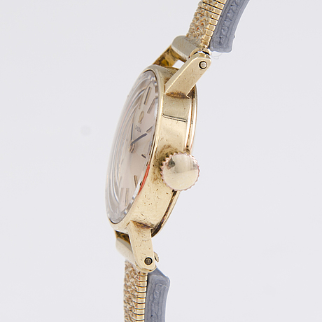 Omega, wristwatch, 14 k gold, 22 mm.