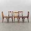 A set of eight 1900's chairs.