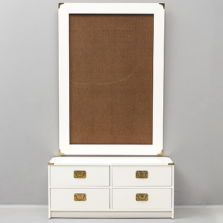 A chest of drawers and mirrorframe, second half of the 20th century.