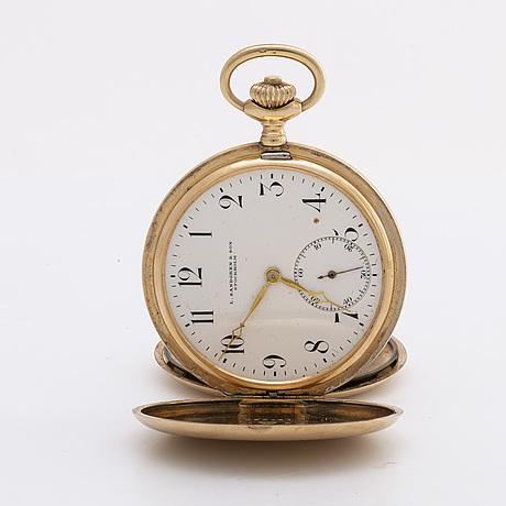 Pocketwatch, j.c.b, signed l sandgren & son, stockholm. c:a 50 mm