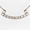 Silver and rock crystal necklace, r lantz 1966.